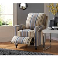 ProLounger Blue/Tan Stripe Traditional Push-back Recliner Chair