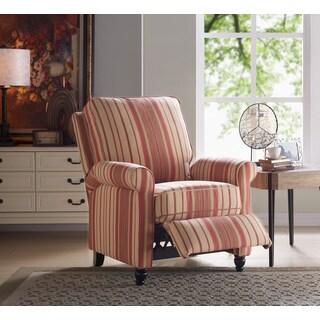 Laurel Creek Beatrice Striped Push Back Recliner Chair