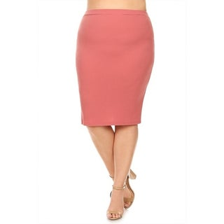 Women's Plus Size Solid Pencil Silhouette Skirt (More options available)