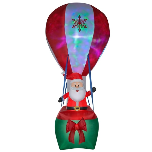 12 ft. Inflatable Projection Hot Air Balloon Santa
