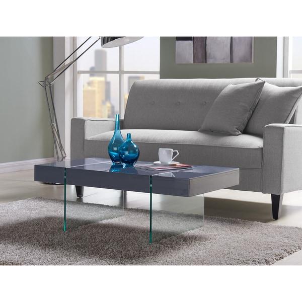 Shop Handy Living Rubi Grey Rectangular Coffee Table With