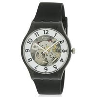 Swatch SKELETOR Silicone Mens Watch