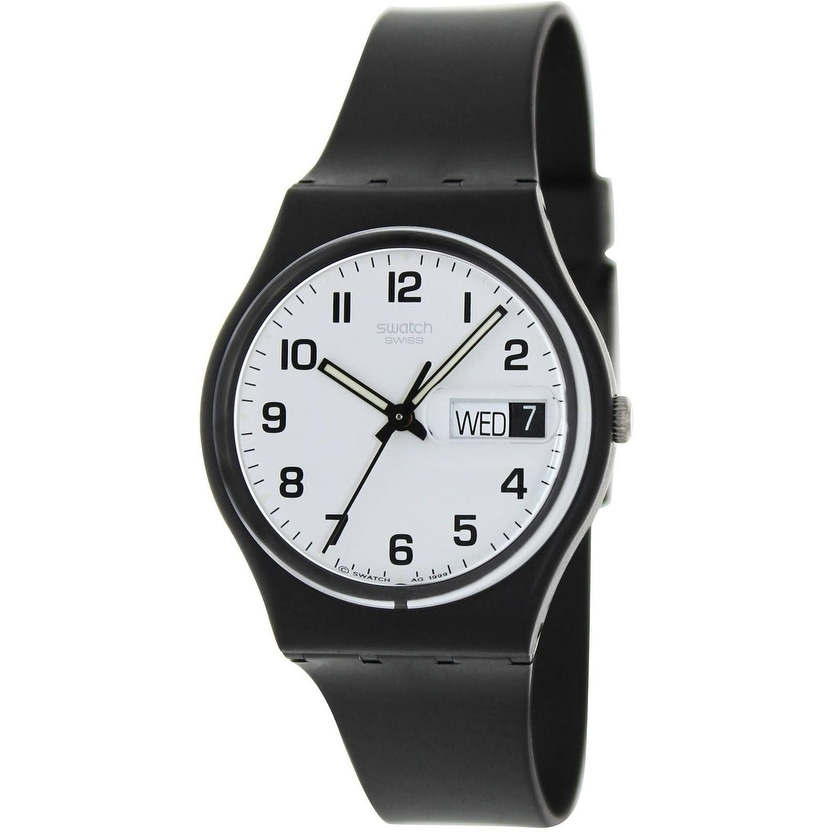 Swatch Once Again Standard Mens Watch GB743, Black, Size ...