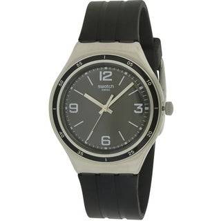 Swatch SHINY BLACK Rubber Mens Watch YGS132