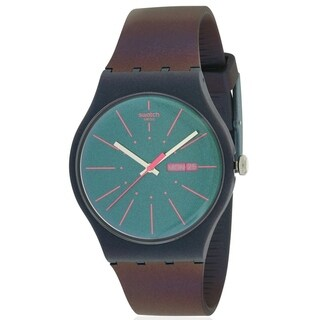 Swatch NEW GENTLEMAN Silicone Mens Watch SUON708