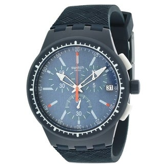 Swatch GARA IN BLU Silicone Chronograph Mens Watch SUSN410