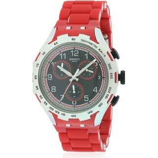 Swatch RED ATTACK Aluminium Chronograph Mens Watch YYS4018AG