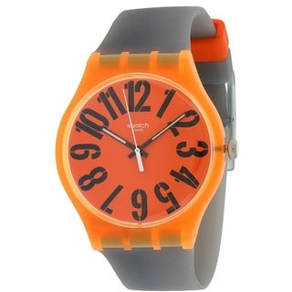 Swatch LARANCIO Silicone Mens Watch SUOO103