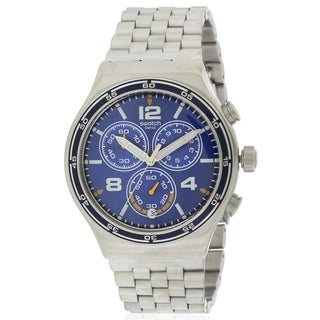 Swatch DESTINATION BARCELONA Stainless Steel Chronograph Mens Watch YVS430G