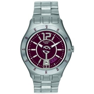 Swatch In A Burgundy Mode Mens Watch YTS405G