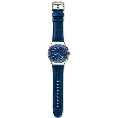 Swatch Blue Turn Chronograph Mens Watch YOS449, Size One ...