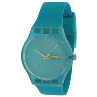 Swatch Turquoise Rebel Unisex Watch SUOL700