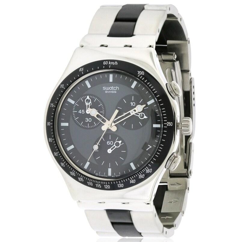 Swatch Irony Chronograph Windfall Mens Watch YCS410GX, Bl...