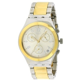 Swatch DREAMNIGHT GOLDEN Two-Tone Chronograph Unisex watch YCS590G