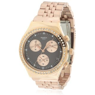 Swatch Precious Rose Chronograph Stainless Steel Ladies Watch YCG414G|https://ak1.ostkcdn.com/images/products/17612693/P23829250.jpg?impolicy=medium