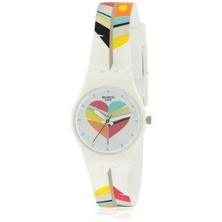 Swatch Untresse Me Silicone Ladies Watch LW151
