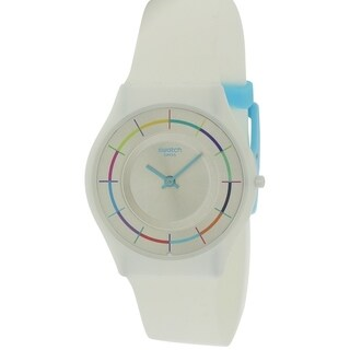 Swatch WHITE PARTY Silicone Unisex Watch SFW109