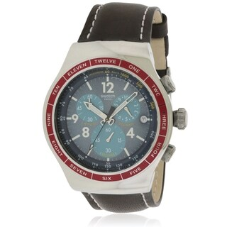 Swatch Recoleta Chronograph Leather Mens Watch YOS454