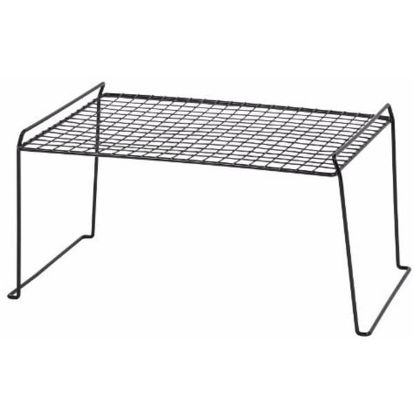 IRIS Stacking Shelf, Large, Black, Set of 6