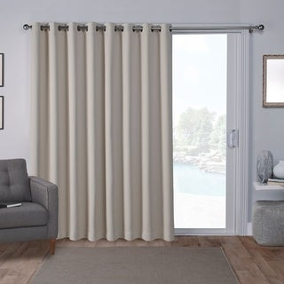 ATI Home Sateen Blackout Solid Grommet Top Wide Patio Curtain Panel - 100 x 84