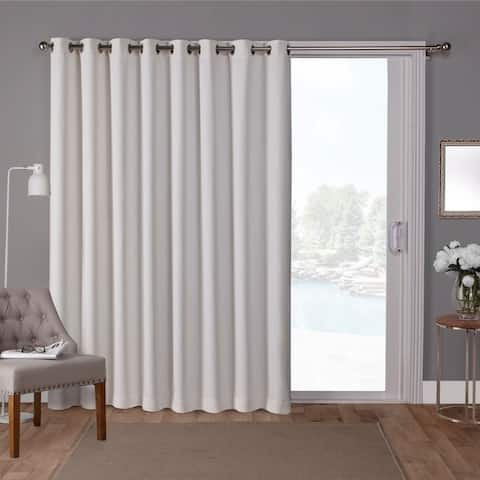 Porch & Den Boosalis Sateen Thermal Woven Blackout Patio Curtain Panel with Grommet Top - 100x84