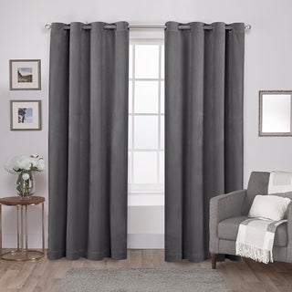ATI Home Velvet Heavyweight Grommet Top Curtain Panel Pair