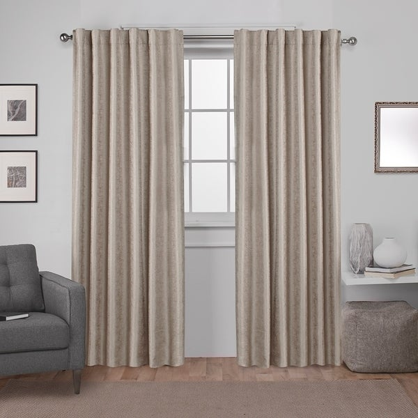 ATI Home Zeus Thermal Woven Blackout Back Tab Top Curtain Panel Pair