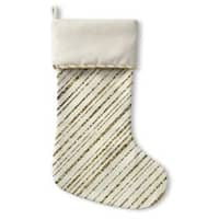 Kavka Designs Gold Candy Cane Holiday Stocking