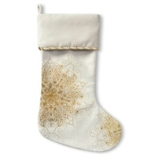 Kavka Designs All In Gold Holiday Stocking