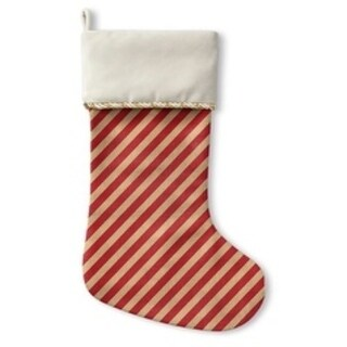 Kavka Designs Red Stripes Holiday Stocking