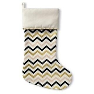 Kavka Designs Gold Black Pink And White 4 Holiday Stocking