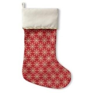 Kavka Designs Snow Flakes Holiday Stocking