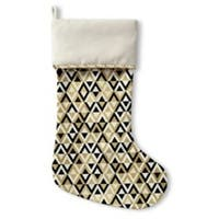 Kavka Designs Gold Black And White Holiday Stocking