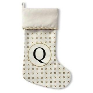 Kavka Designs Gold Q Holiday Stocking