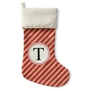 Kavka Designs Red Stripe T Holiday Stocking