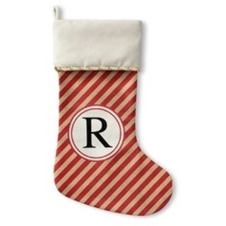 Kavka Designs Red Stripe R Holiday Stocking