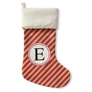Kavka Designs Red Stripe E Holiday Stocking