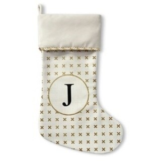 Kavka Designs Gold J Holiday Stocking