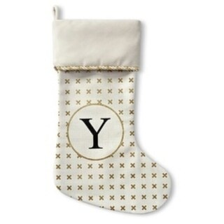 Kavka Designs Gold Y Holiday Stocking