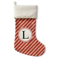 Kavka Designs Red Stripe L Holiday Stocking