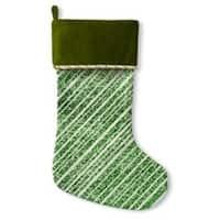 Kavka Designs Green Glitter Holiday Stocking