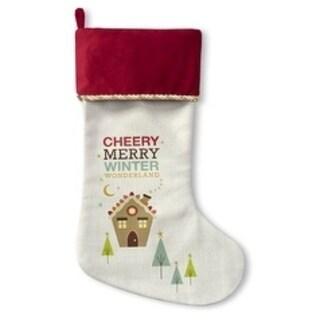 Kavka Designs Cherry Merry Winter Wonderland Holiday Stocking