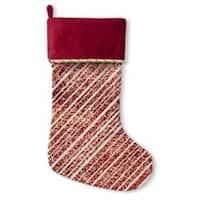 Kavka Designs Red Glitter Holiday Stocking