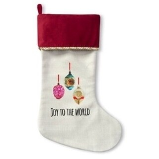 Kavka Designs Joy To The World Holiday Stocking