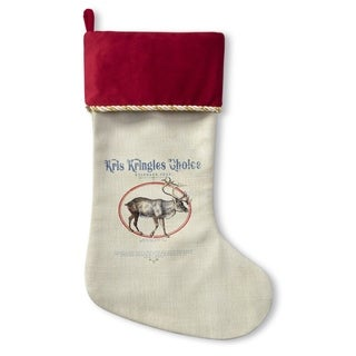 Kavka Designs Reindeer Feed Holiday Stocking