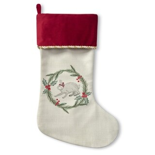 Kavka Designs Bunny Christmas Holiday Stocking