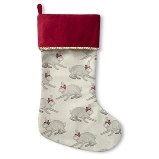 Kavka Designs Christmas Bunnies Holiday Stocking