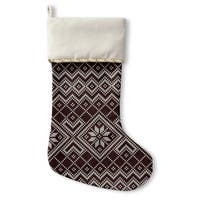 Kavka Designs Black And White Snowflake Holiday Stocking