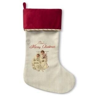 Kavka Designs Children At Christmas Holiday Stocking