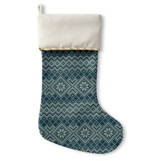 Kavka Designs Snowflake Dark Teal Holiday Stocking